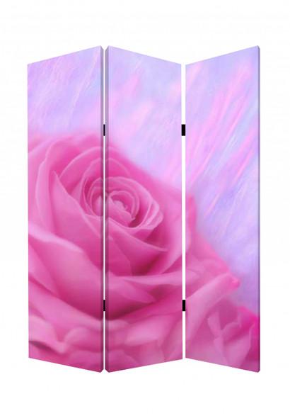 "1"" x 48"" x 72"" Multi Color Wood Canvas Flourish Screen"