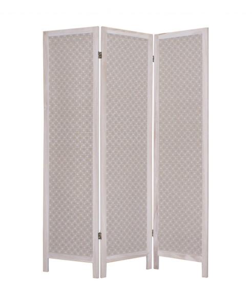 "1"" x 48"" x 67"" Beige, Wood amp; Fabric - Screen"