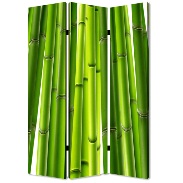 """1"""" x 48"""" x 72"""" Multi Color Wood Canvas Bamboo Screen"""
