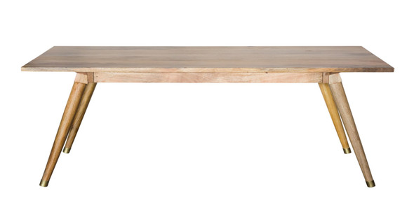 """72"""" Naural Honey Finish Solid Wood Dining Table"""