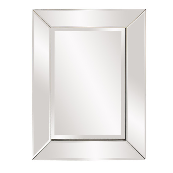 Rectangle Frame Mirror with Mirrored Finish And Beveled Edge