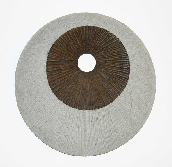 """1"""" x 14"""" x 14"""" Brown amp; Gray Round Ribbed Wall Decor"""