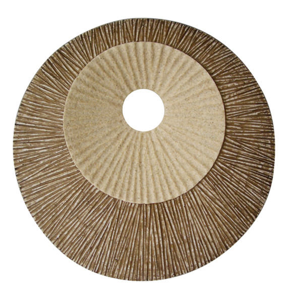 """1"""" x 26"""" x 26"""" Brown Round Double Layer Ribbed Wall Plaque"""