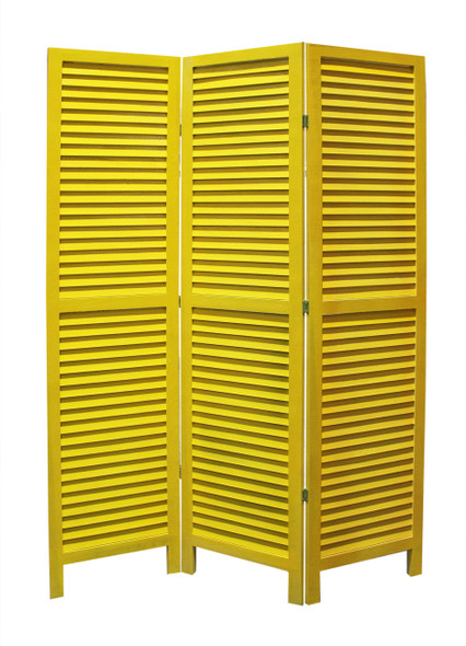 """1"""" x 48"""" x 67"""" Yellow, Wood, Shutter - Screen"""