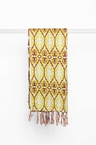 """18"""" x 72"""" Multi-colored Eclectic, Bohemian, Traditional - Scarf"""