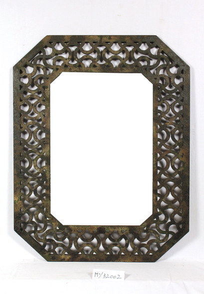 """1"""" x 40"""" x 31"""" Brown Distressed Wooden Frame"""