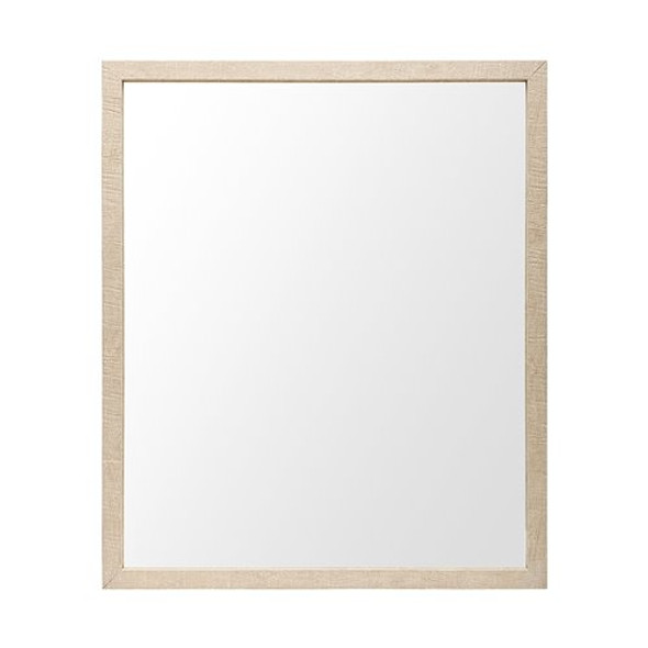 Rectangle Natural Accent Mirror with Matte Finish Frame
