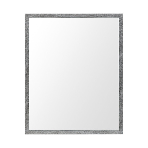 Rectangle Grey Accent Mirror with Driftwood Quality Frame