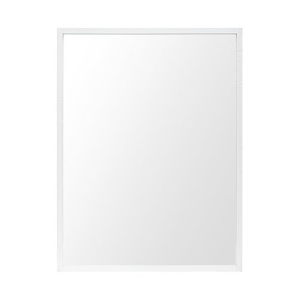 Rectangle White Accent Mirror with Crisp White Finish Frame