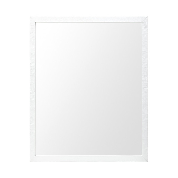 Rectangle White Accent Mirror with Crisp White Finish Frame - 380070
