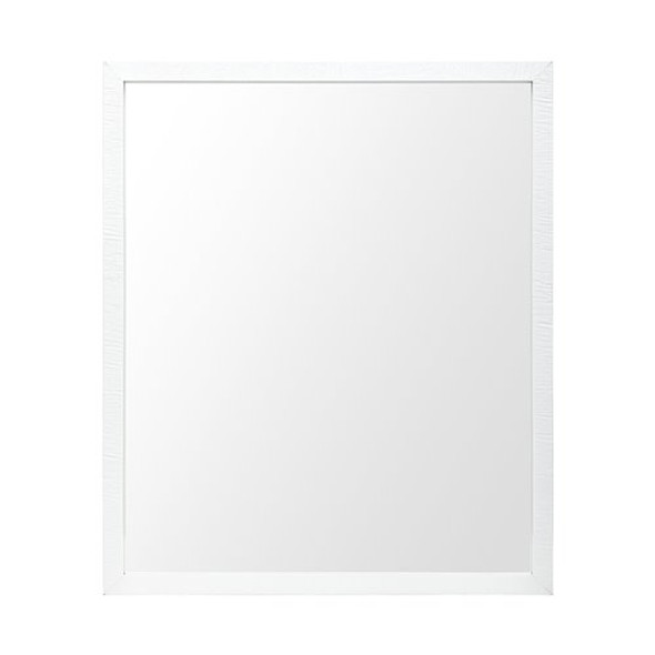 Rectangle White Accent Mirror with Crisp White Finish Frame - 380080