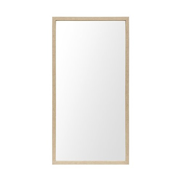 Rectangle Natural Accent Mirror with Matte Finish Frame - 380087