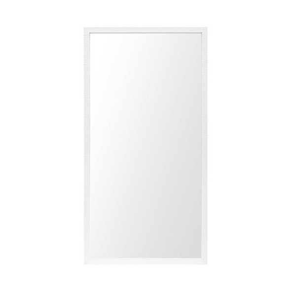 Rectangle White Accent Mirror with Crisp White Finish Frame - 380085