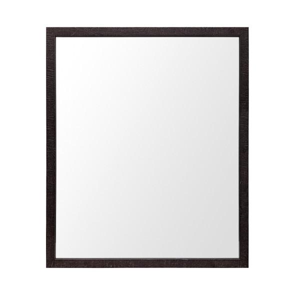 Rectangle Espresso Accent Mirror with Lakeside Design - 380083