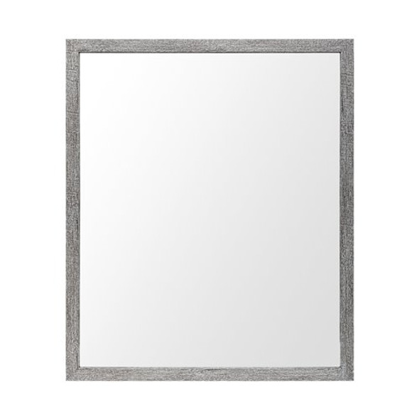 Rectangle Grey Accent Mirror with Driftwood Quality Frame - 380084