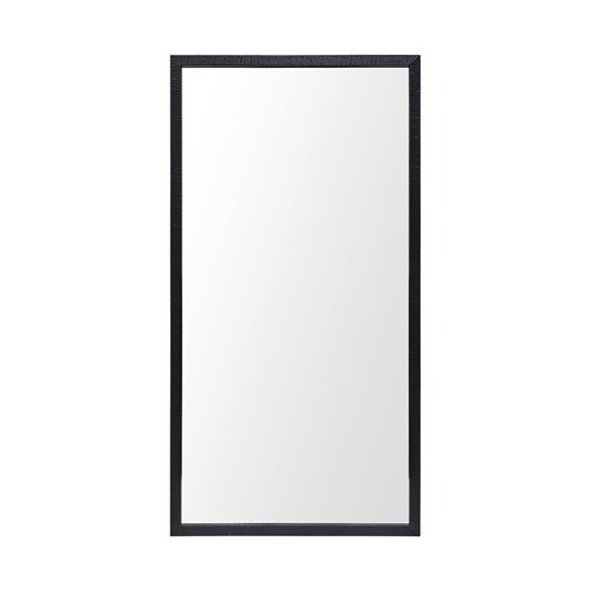 Rectangle Black Accent Mirror with Oxidized Finish Frame - 380081
