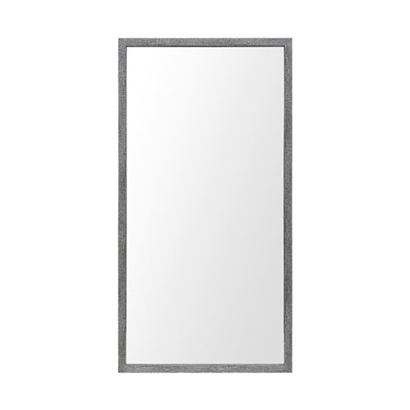 Rectangle Grey Accent Mirror with Driftwood Quality Frame - 380089