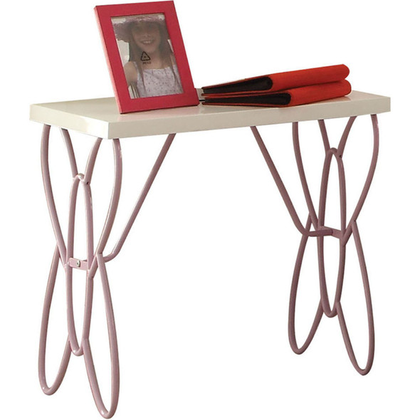 Lilac and White Butterfly Nightstand