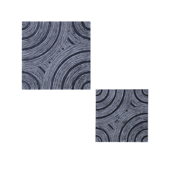 "1"" x 13"" x 13"" Gray Lined, Square - Wall Decor"