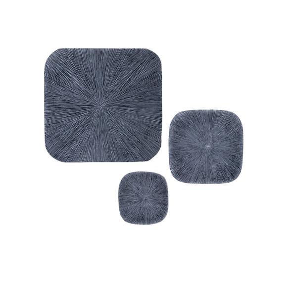 "1"" x 30"" x 30"" Sandstone, Ribbed Concave, Square - Wall Decor"