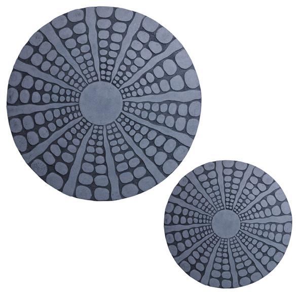 "1"" x 28"" x 28"" Sandstone, Round, Stardust Pebble Finish - Wall Decor"