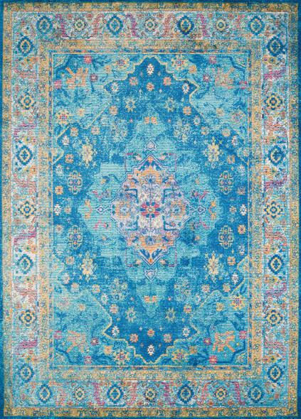 "118"" x 158"" Cerulean Olefin / Polyester Rug"