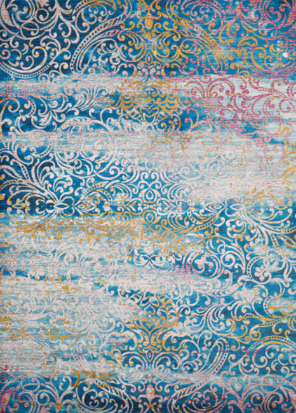 "118"" x 158"" Cyan Olefin / Polyester Rug"