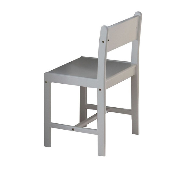 Traditional White Wooden Chair