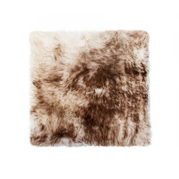 Chocolate Brown Ombre Natural Sheepskin Seat Chair Cover