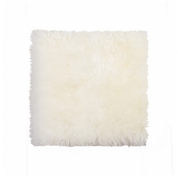 White Natural Sheepskin Chair Seat Cover