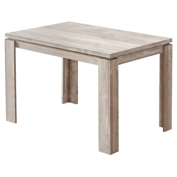 """48"""" X 32"""" X 30.5 """" Taupe Reclaimed Wood-Look Dining Table"""