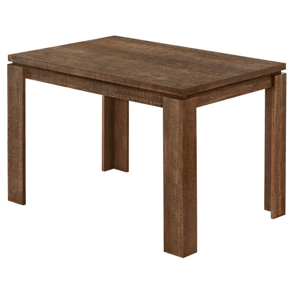 """48"""" X 32"""" X 30.5 """" Brown Reclaimed Wood-Look Dining Table"""