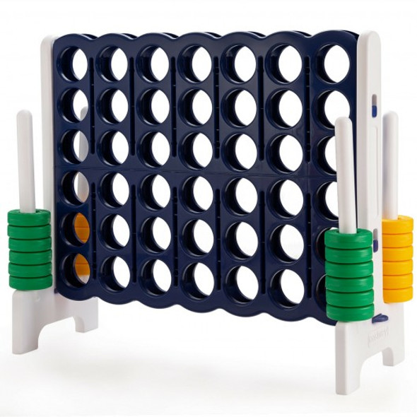 Jumbo 4-to-Score 4 in A Row Giant Game Set Outdoor Indoor Kids Adults Family Fun
