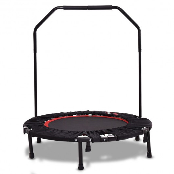 Mini Foldable Rebounder Trampoline with Hand Rail