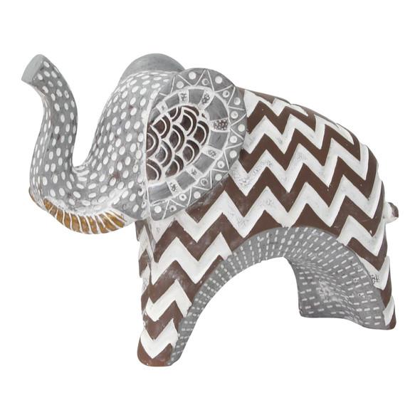 Carved Tribal Elephant Tabletop
