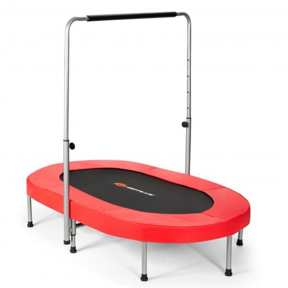 Foldable Double Mini Kids Fitness Rebounder Trampoline-Red