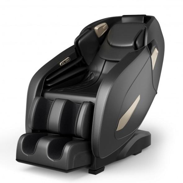 Full Body Zero Gravity Massage Chair with SL Track Bluetooth Heat-Black