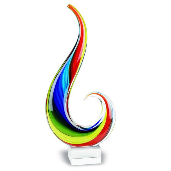 """12"""" MultiColor Art Glass Centerpiece"""