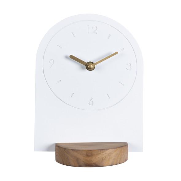 Sleek White Table or Desk Clock
