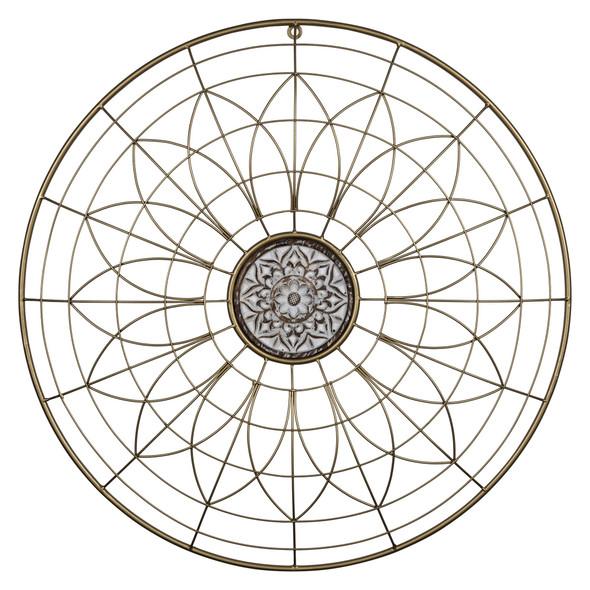 Bohemian Gold Wire Mandala Wall Decor