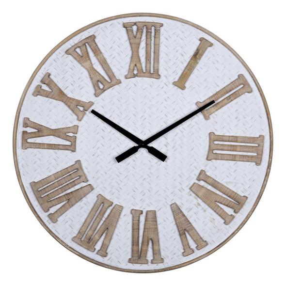 Rustic Wooden Roman Numeral Wall Clock