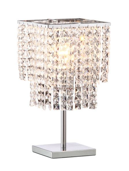 Dazzle Falling Crystals Table Lamp