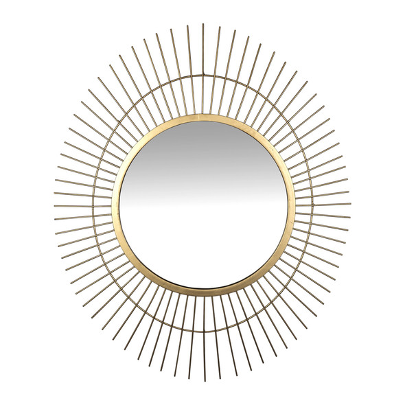 Gold Metal Spiked Wall Mirror