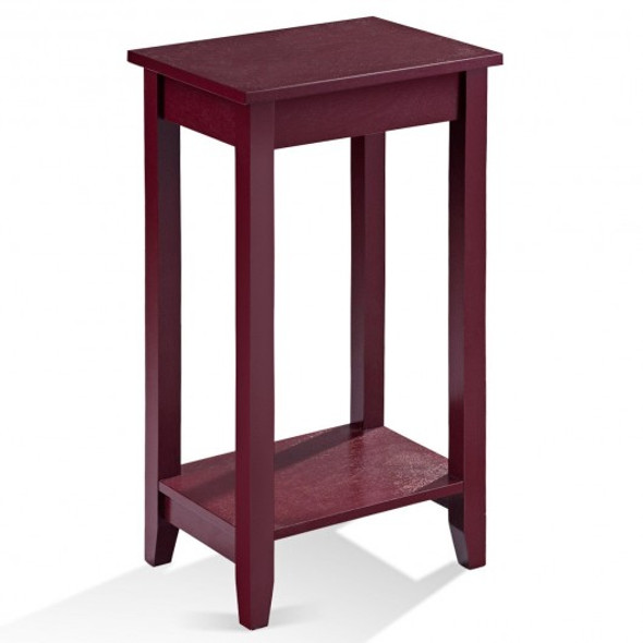 Tall Wooden Sofa End Table Side Table