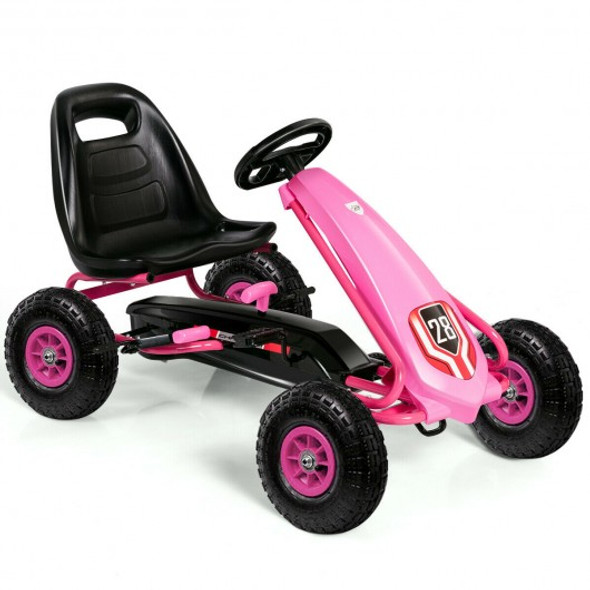 Kids Ride on Car Toy with Adjustable Seat-Pink