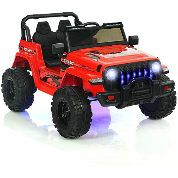 12V Kids Ride-on Jeep Car with 2.4 G Remote Control-Red