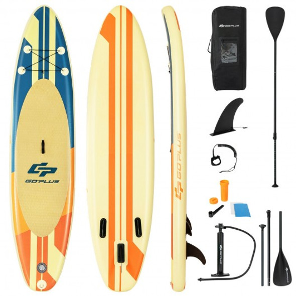 Inflatable Stand Up Paddle Board Surfboard with Bag Aluminum Paddle and Hand Pump-L