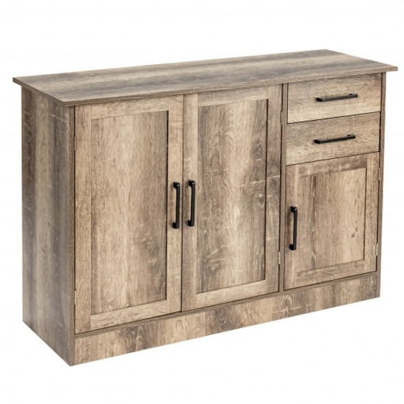 Buffet Storage Cabinet  Kitchen Sideboard with 2 Drawers-Natural