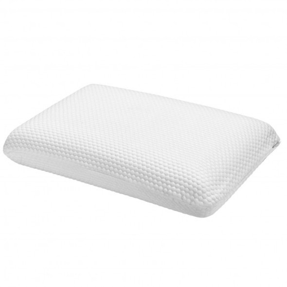 Memory Foam Bed Pillow with Zippered Washable Pillowcase