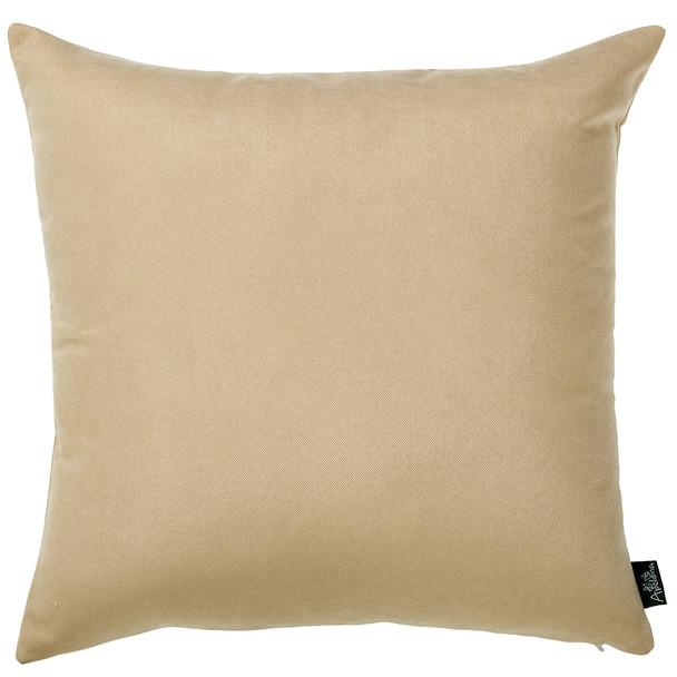 "18""x18"" Light Beige Honey Throw Pillow Cover (2 pcs in set)"
